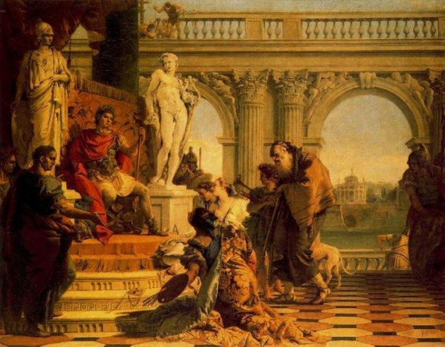 Mecenas presentando las Artes Liberales al Emperador Augusto
