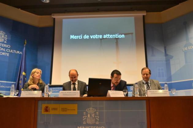 De izda. a dcha.: Silke von Lewinski, Antoine Latreille, Ignacio Garrote y Paul Torremans. Fuente: MAPI.